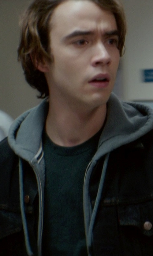 Jamie Blackley with ATM Anthony Thomas Melillo Crew Neck Vintage Jersey T-Shirt in If I Stay