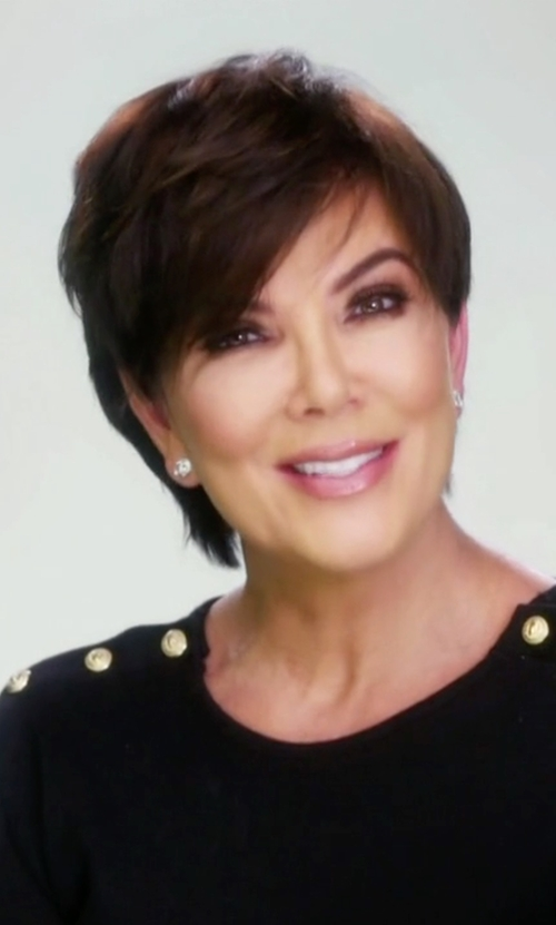Kris Jenner with Balmain Wool And Cashmere Sweater in Keeping Up With The Kardashians