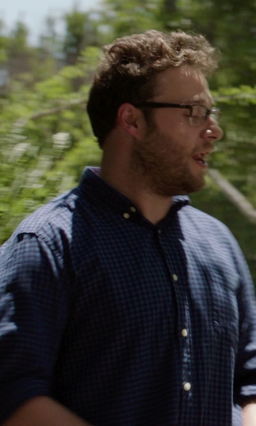 Seth Rogen with Ralph Lauren Custom-Fit Plaid Sport Shirt in Neighbors