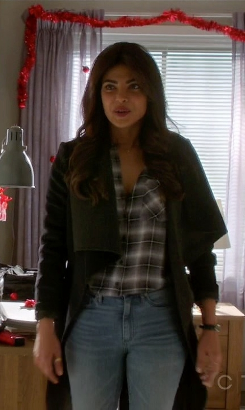 Priyanka Chopra with LA Made Alexa Trench Coat in Quantico