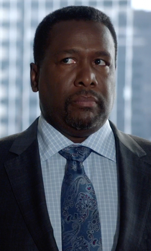 Wendell Pierce with Brioni Check Shirt in Suits