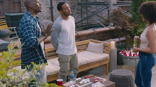 Chris 'Ludacris' Bridges with G-Star Rovic Tapered Fit Cargo Pants in The Fate of the Furious