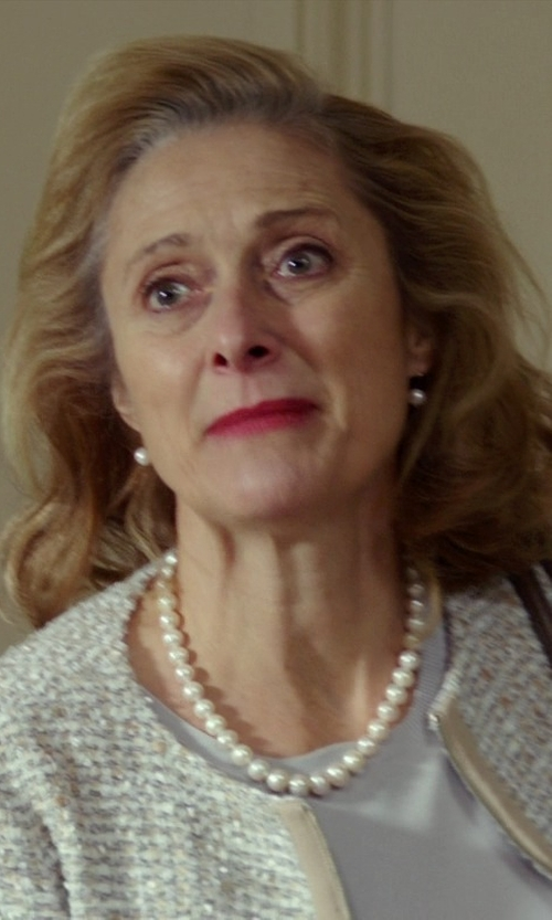 Caroline Goodall with TARA Pearls White South Sea Stud Earrings in The Best of Me