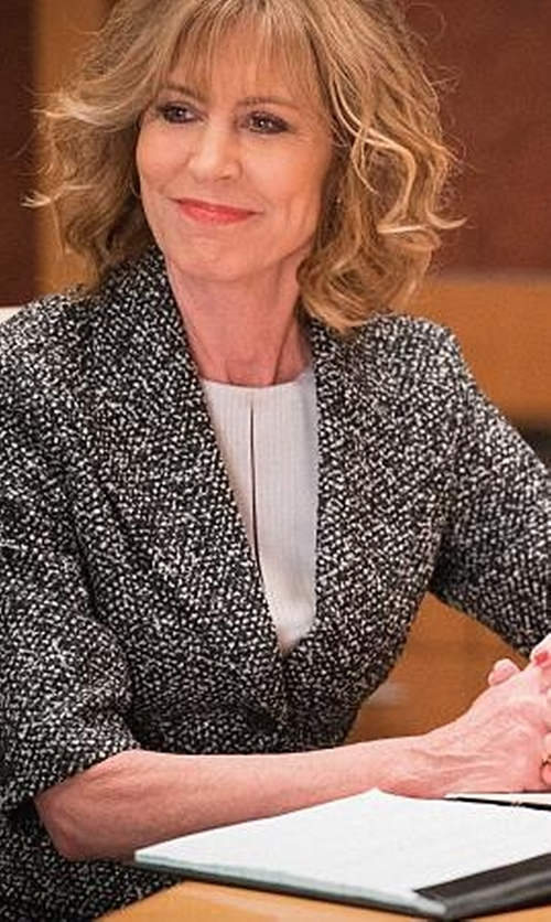 Christine Lahti with Les Copains  Tweed Blazer in The Good Wife