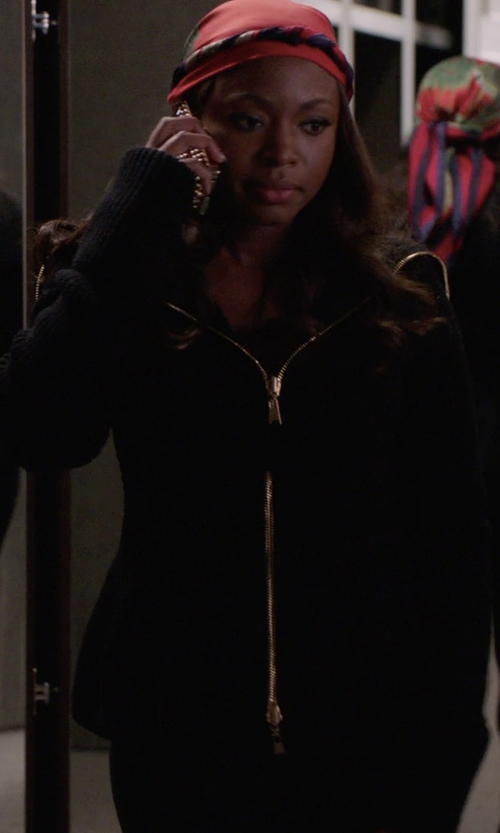Naturi Naughton with MM6 Maison Margiela Asymmetric Zip Hoodie in Power