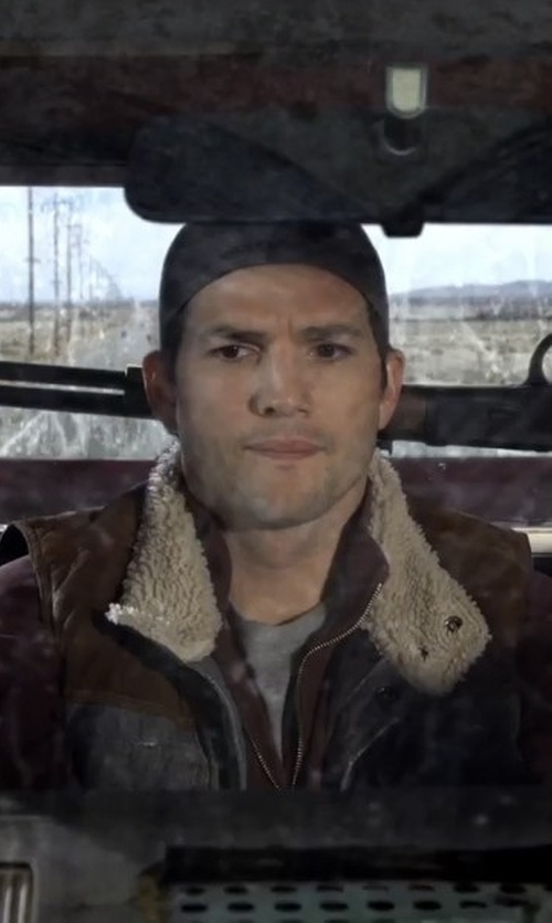 Ashton Kutcher with Carhartt Sherpa-Lined Sandstone Vest in The Ranch