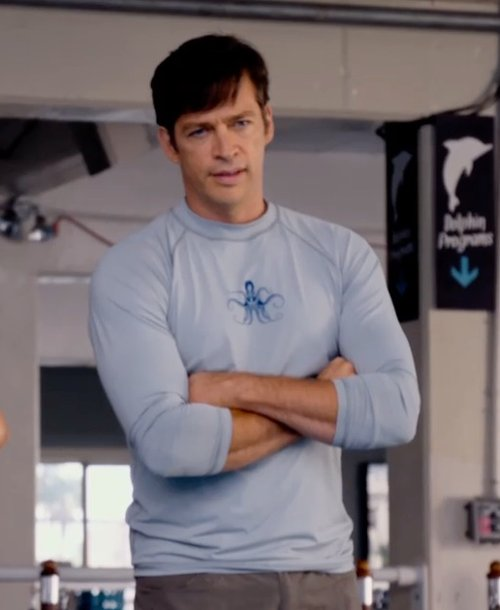 Harry Connick Jr. with Wet Effect Custom Made Long Sleeve Rashguard (Harry Connick Jr.) in Dolphin Tale 2