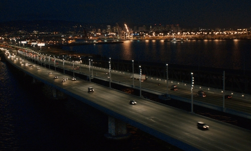Unknown Actor with San Francisco–Oakland Bay Bridge San Francisco, California in Ant-Man