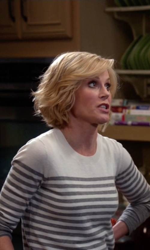 Julie Bowen with Joie Herminia Color Block Stripe Sweater in Modern Family