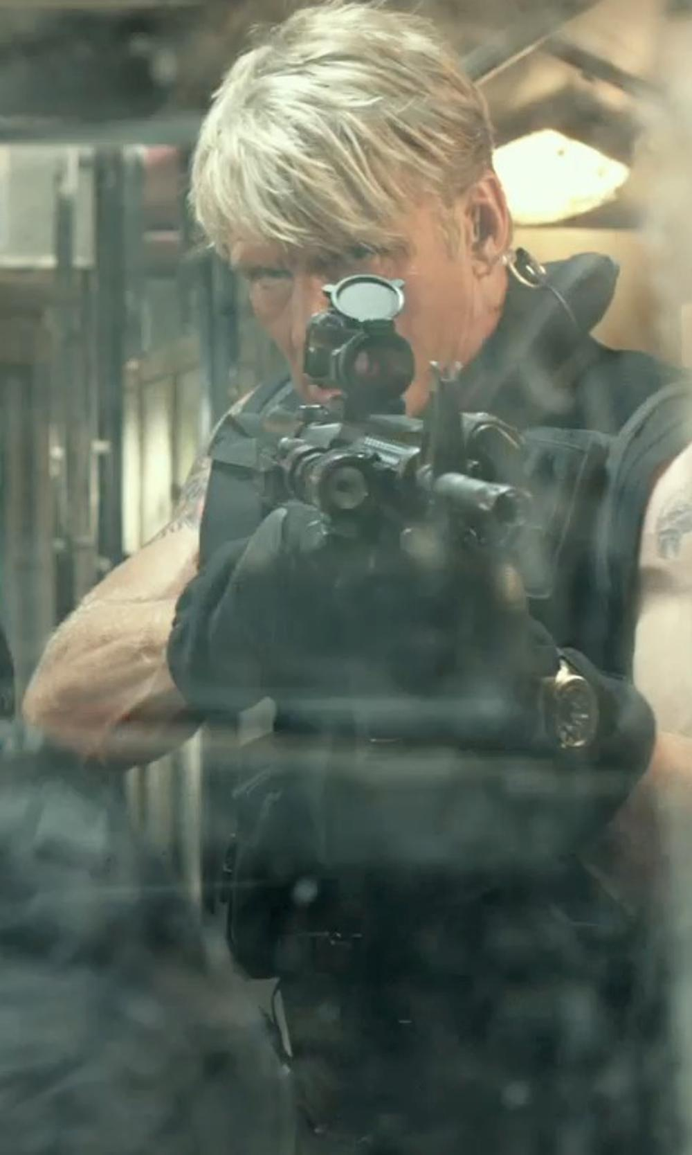 Dolph Lundgren with Galls Utility Tactical Vest in The Expendables 3