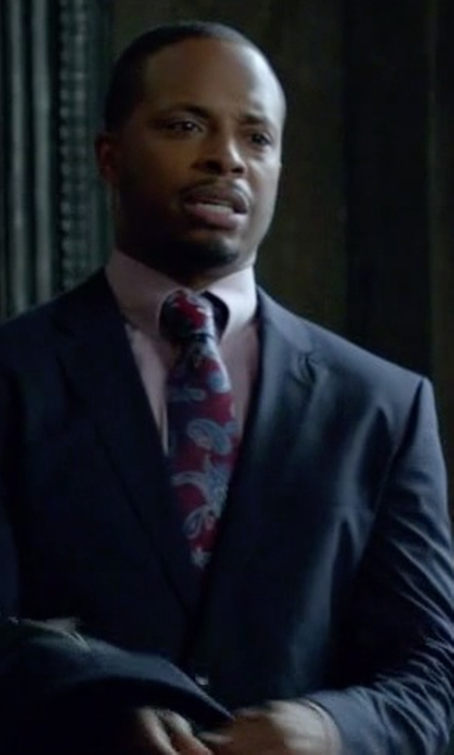 Cornelius Smith Jr. with Ermenegildo Zegna 'Quindici' Paisley Print Silk Tie in Scandal