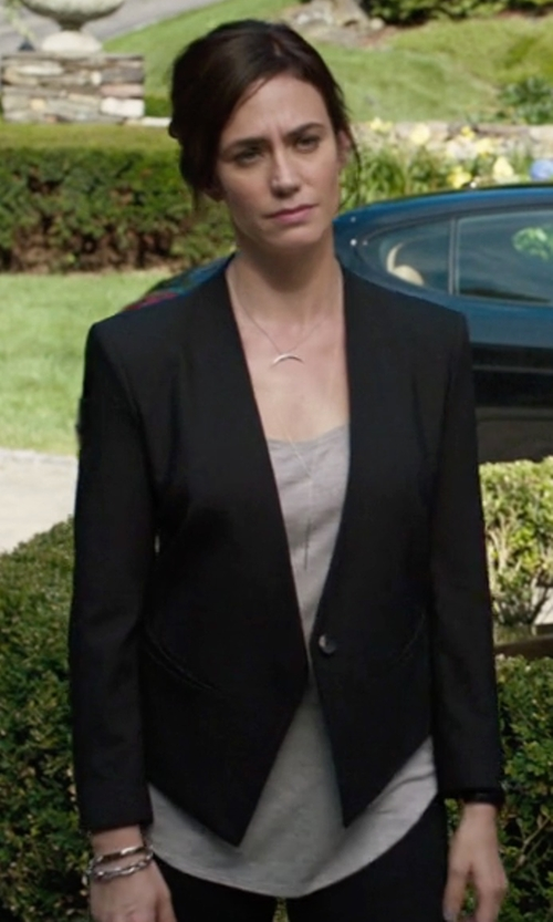 Maggie Siff with Helmut Lang Smoking Tux Blazer in Billions