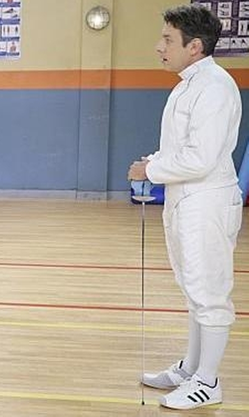 John Ross Bowie with Adidas En Guard Fencing Shoes in The Big Bang Theory