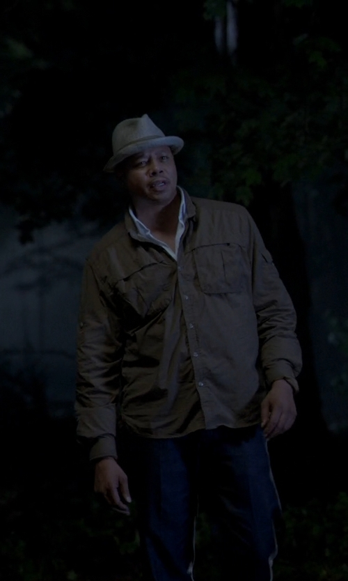 Unknown Actor with Save Khaki Poplin Multi-pocket Jacket in Empire