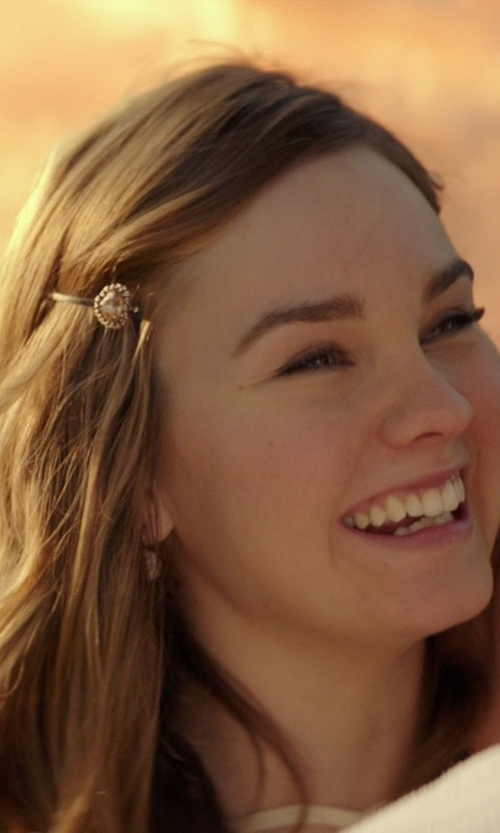 Liana Liberato with PammyJ Necklace Heart Charm Crystals Hair Pin in The Best of Me