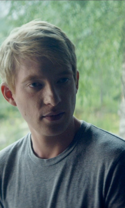 Domhnall Gleeson with Brioni Classic T-Shirt in Ex Machina