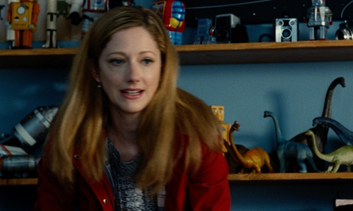 Judy Greer with Antonio Melani Black & White w/ Vertical Cableknit Sweater in Jurassic World