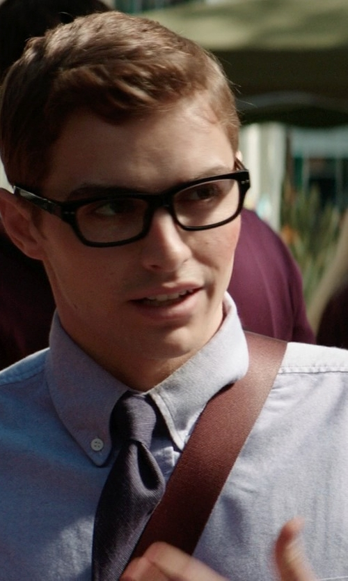 Dave Franco with J.Crew Button-Down Collar Cotton Oxford Shirt in Neighbors