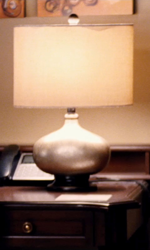 Robert Kazinsky with CB2 Smelting Table Lamp in Hot Pursuit