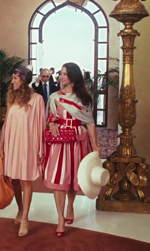 Kristin Davis with Patricia Underwood Cartwheel Hat in Sex and the City 2