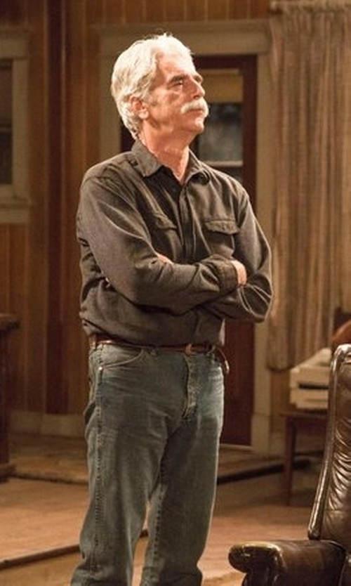 Sam Elliott with Daniel Cremieux Signature Long Sleeve Woven Shirt in The Ranch