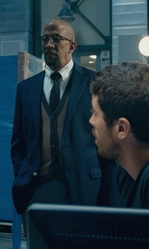 Reg E. Cathey with Donald J. Trump Cashmere-Blend Twill Blazer in Fantastic Four