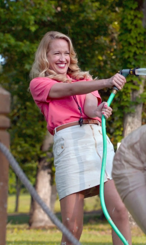 Anna Camp with Ralph Lauren Pink Pony Classic-Fit Polo in Pitch Perfect 2