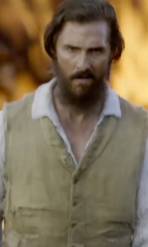 Matthew McConaughey with Fun Costumes Men's Renaissance Shirt in Free State of Jones