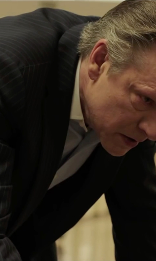 Chris Cooper with Dior Homme Pinstripe Suit in Demolition