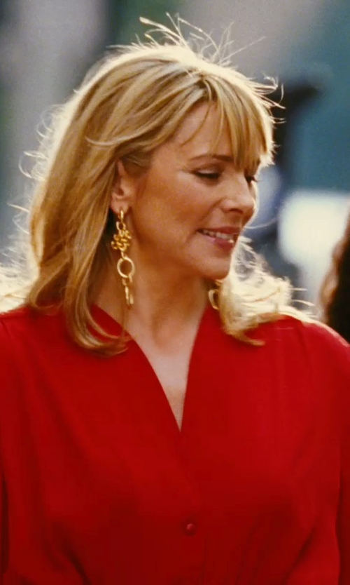 Kim Cattrall with Gurhan Clove Drop Earrings in Sex and the City