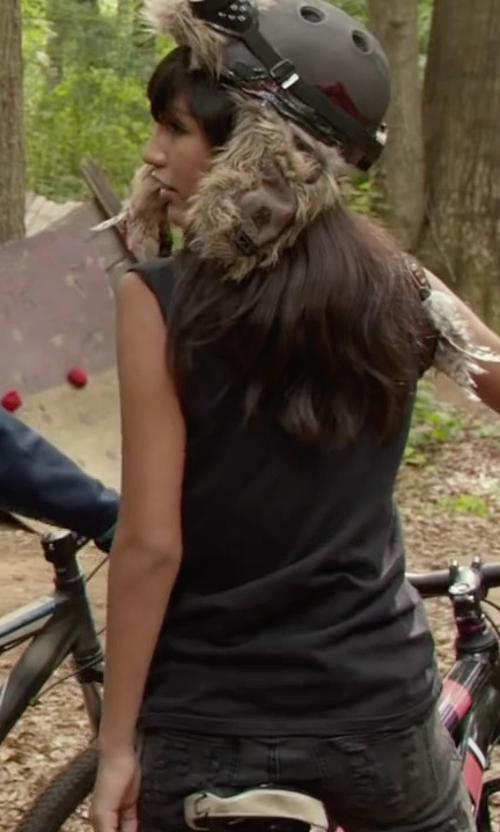 Mia Xitlali with Joe's Jeans Big Girls Grey Fade Jegging in Max