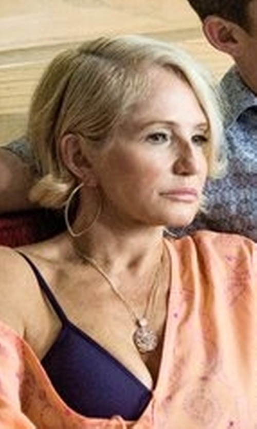 Ellen Barkin with Lana Straight Magic Large Hoop Earrings in Animal Kingdom