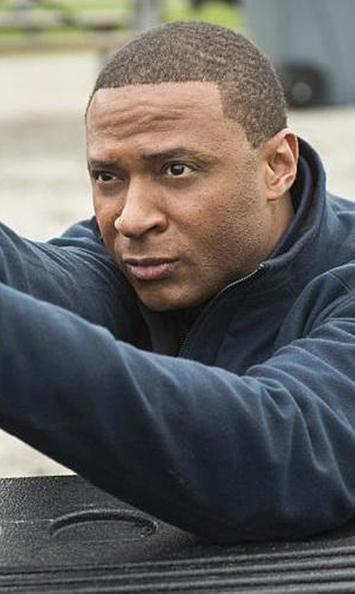 David Ramsey with Arc'teryx 'Diplomat' Athletic Fit Wind Resistant Wool Blend Jacket in Arrow