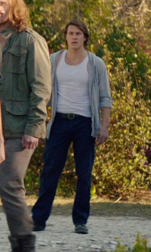 Luke Bracey with Meltin Pot Denim Pants in The Best of Me