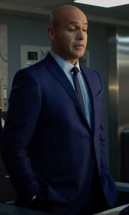 Billy Zane with Strellson Slim Fit Wool Suit in Guilt