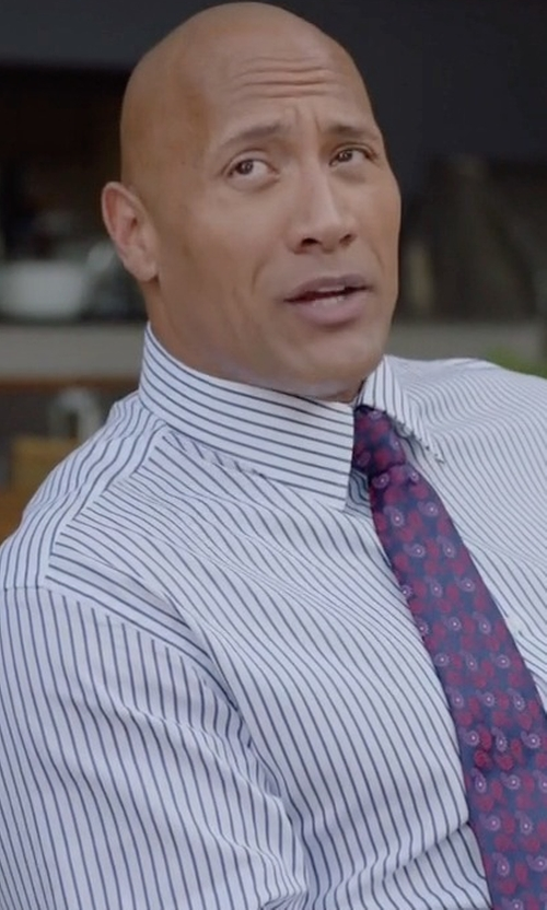 Dwayne Johnson with Tom Ford High Definition Striped Dress Shirt in Ballers