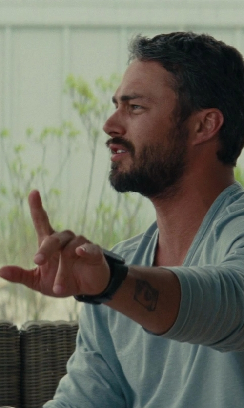 Taylor Kinney with Ted Baker London Multifunction Round Embossed Leather Strap Watch in The Other Woman