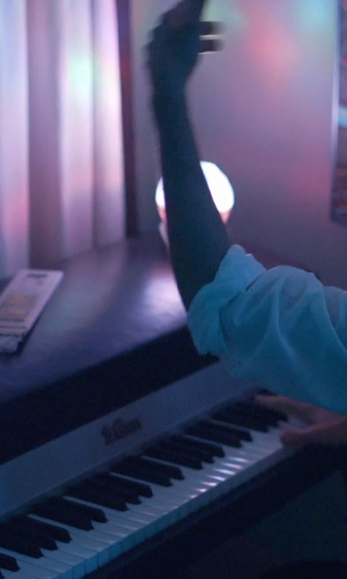 Jason Schwartzman with Yamaha Digital Piano in The Overnight