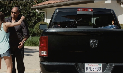 Dwayne Johnson with Dodge 2010 Ram 1500 Pickup Truck in San Andreas