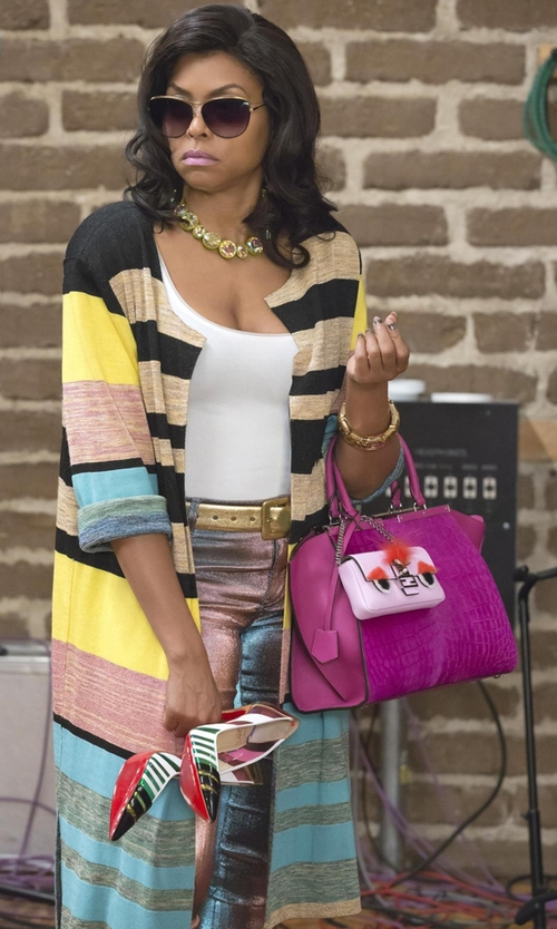 Taraji P. Henson with Wolford Pure Seamless Tank Top in Empire