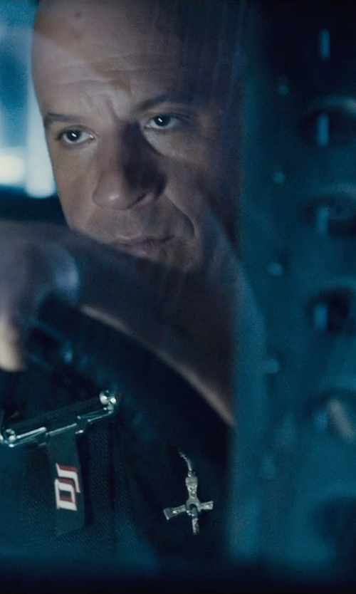 Vin Diesel with King Baby Studio Traditional Cross Pendant Necklace in Furious 7
