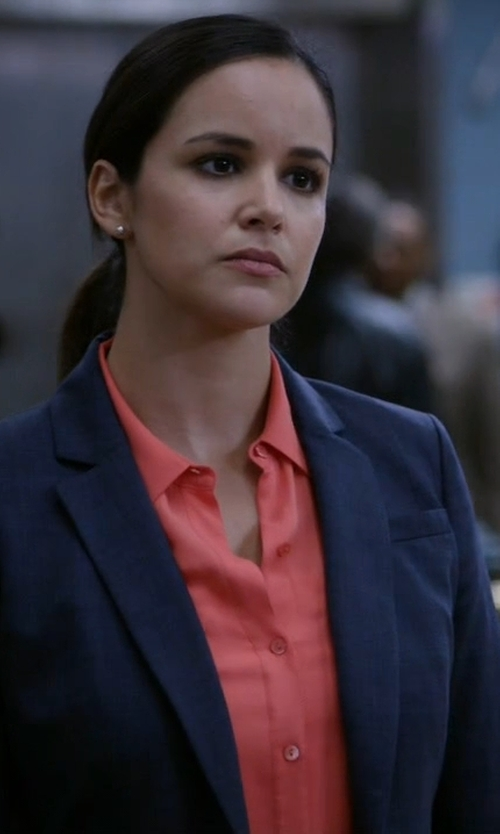 Melissa Fumero with J.Crew Petite Thompson Blazer in Brooklyn Nine-Nine