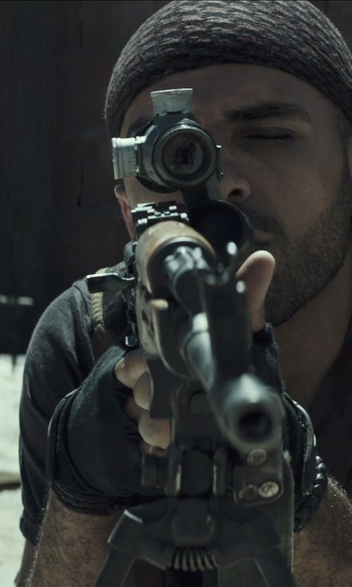 Sammy Sheik with Hatch Stop Cycle Half Finger Gloves in American Sniper