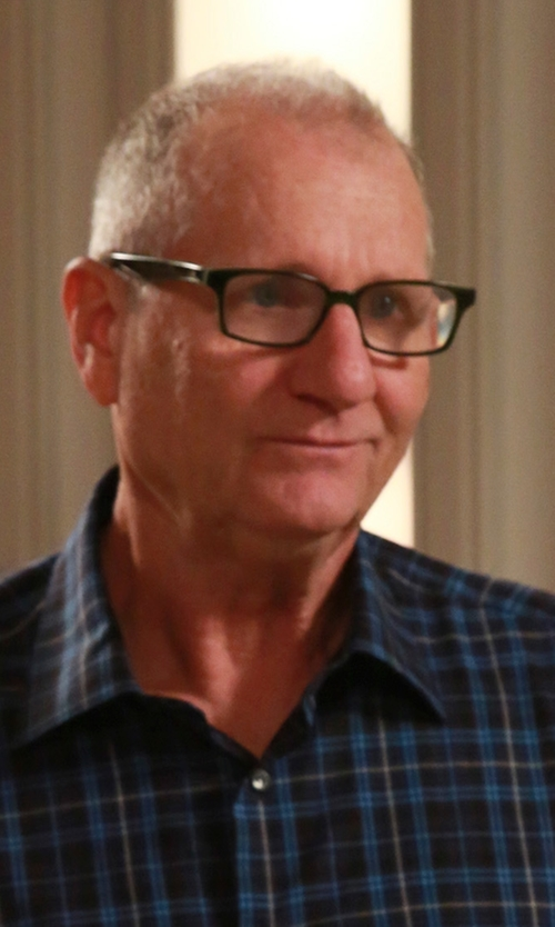 Ed O'Neill with Gitman Brothers Vintage Vintage Tonal Indigo Plaid Shirt in Modern Family