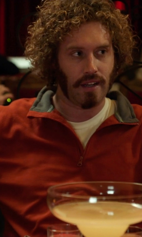 T.J. Miller with Toscano Quarter Zip Sweater in Silicon Valley