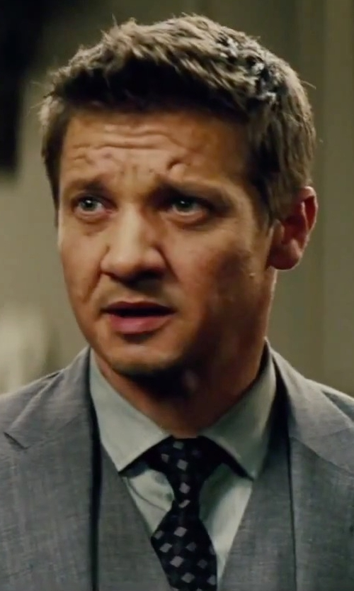 Jeremy Renner with Michael Kors Soldier Neat Silk Tie in Mission: Impossible - Rogue Nation