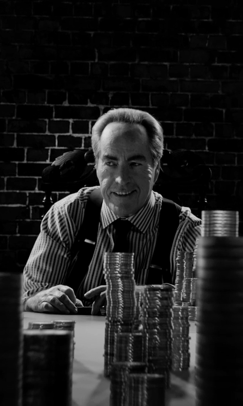 Powers Boothe with Brioni Solid Satin Tie in Frank Miller's Sin City: A Dame To Kill For