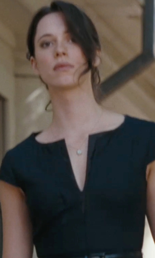 Rebecca Hall with Moschino Cheapandchic Soft Leather Skinny Belt in The Town