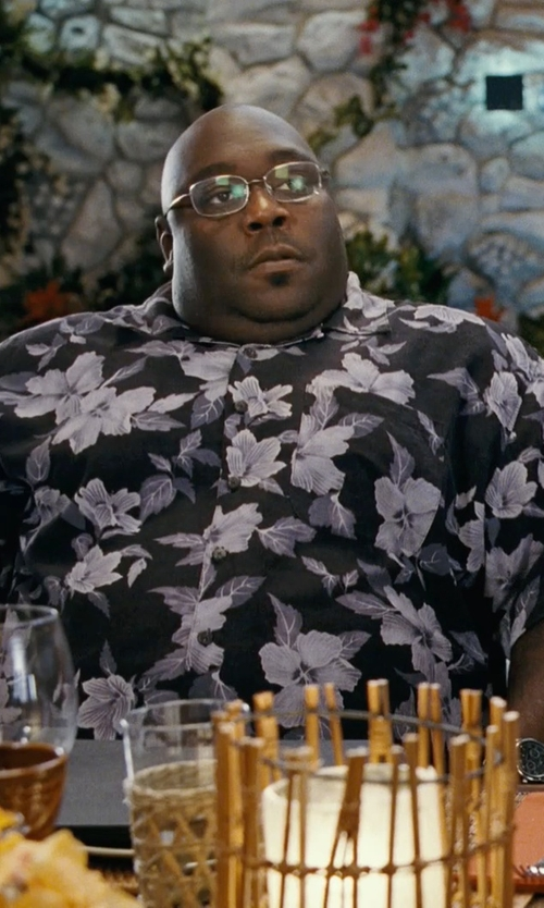 Faizon Love with Pacific Legend Monstera Leaf Hibiscus Floral Men's Hawaiian Shirts in Couple's Retreat