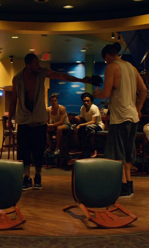 Matt Bomer with Religion Riot Slim Fit Denim Shorts in Magic Mike XXL